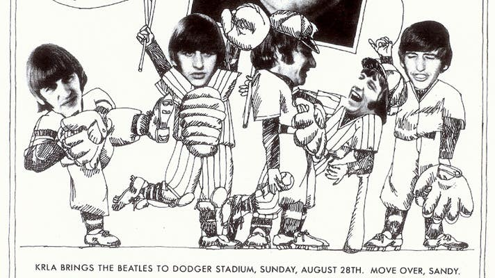 The Beatles at Dodger Stadium playbill | Image courtesy of Los Angeles Dodgers