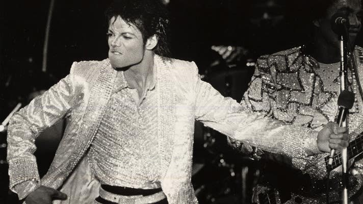 Michael Jackson on stage at Dodger Stadium | Photo courtesy of Los Angeles Dodgers
