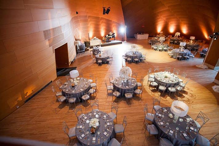 Wedding reception | Photo by Drew Bittel, courtesy of Platinum Weddings by Kerrie, Facebook