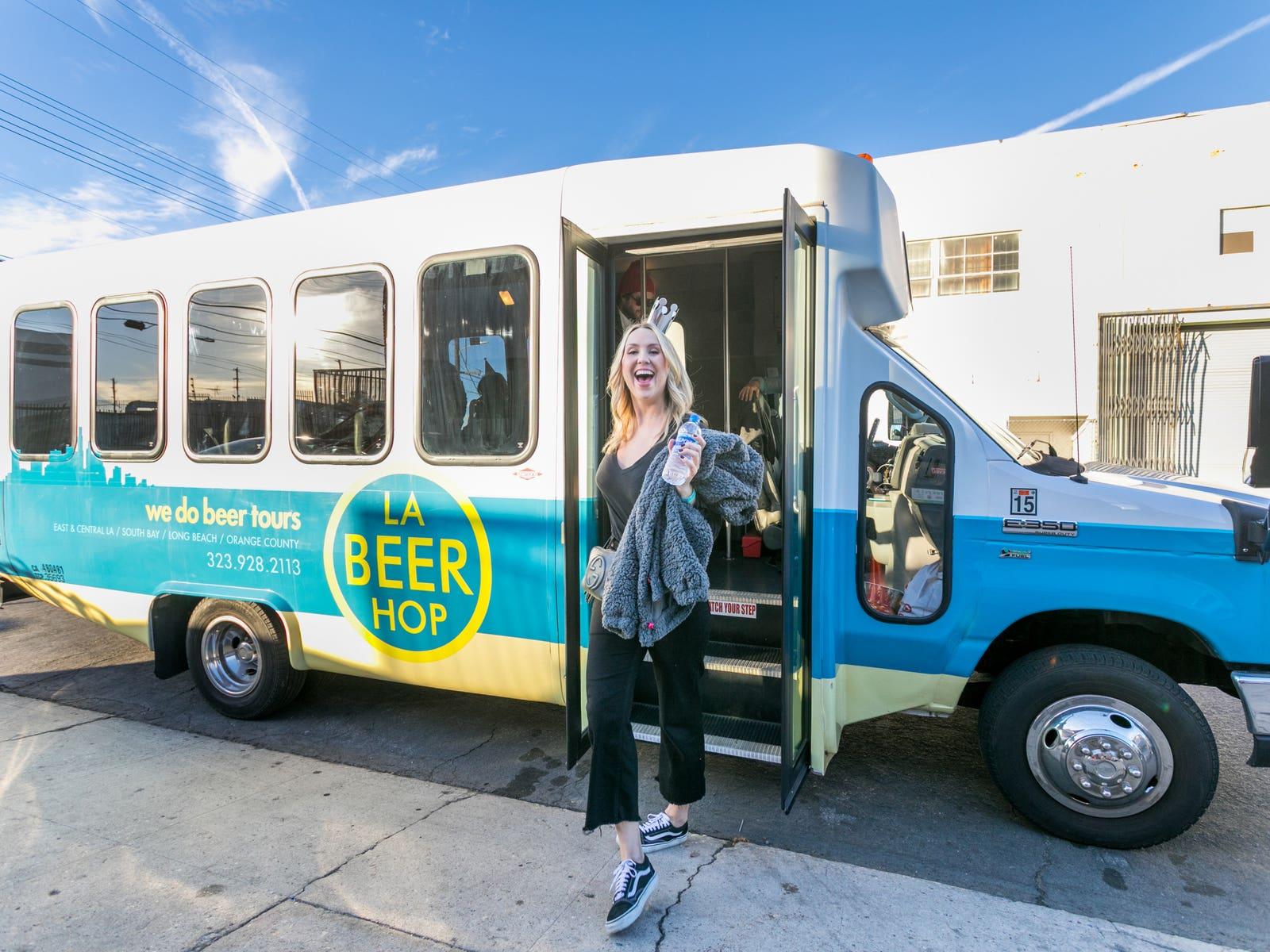 LA Beer Hop bus