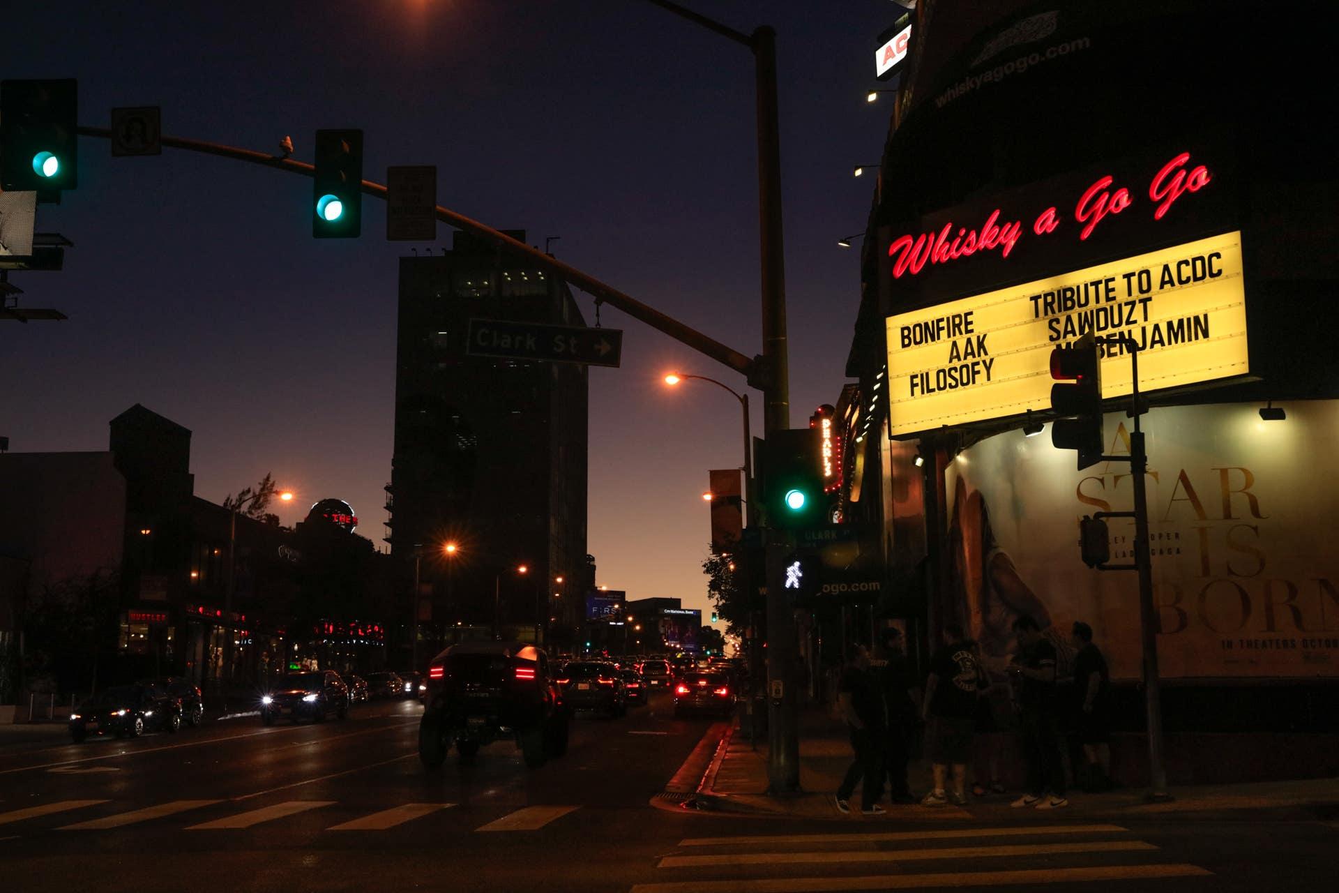 The Whisky A Go Go on the Sunset Strip