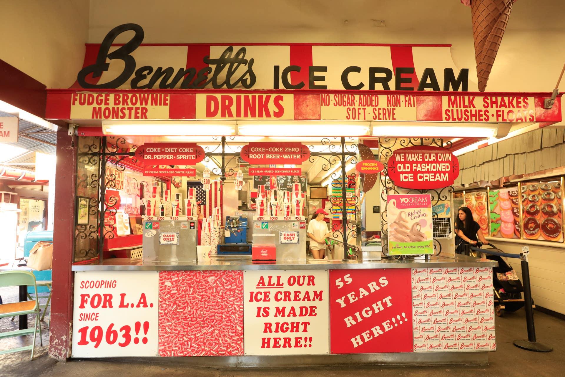 Bennett's Ice Cream at the Original Farmers Market   Photo: Callan Koening