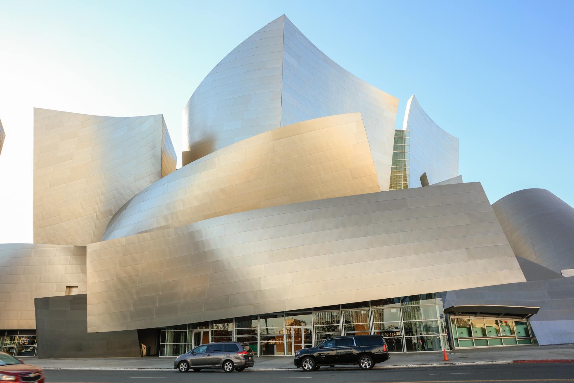 The exterior of Walt Disney Concert Hall