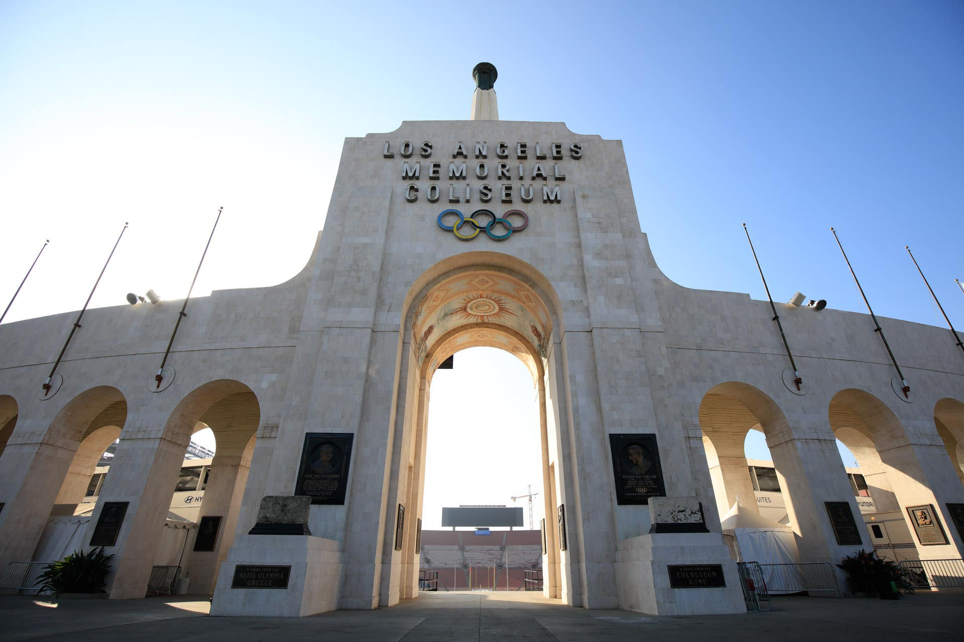 The Peristyle at Los Angeles Memorial Coliseum