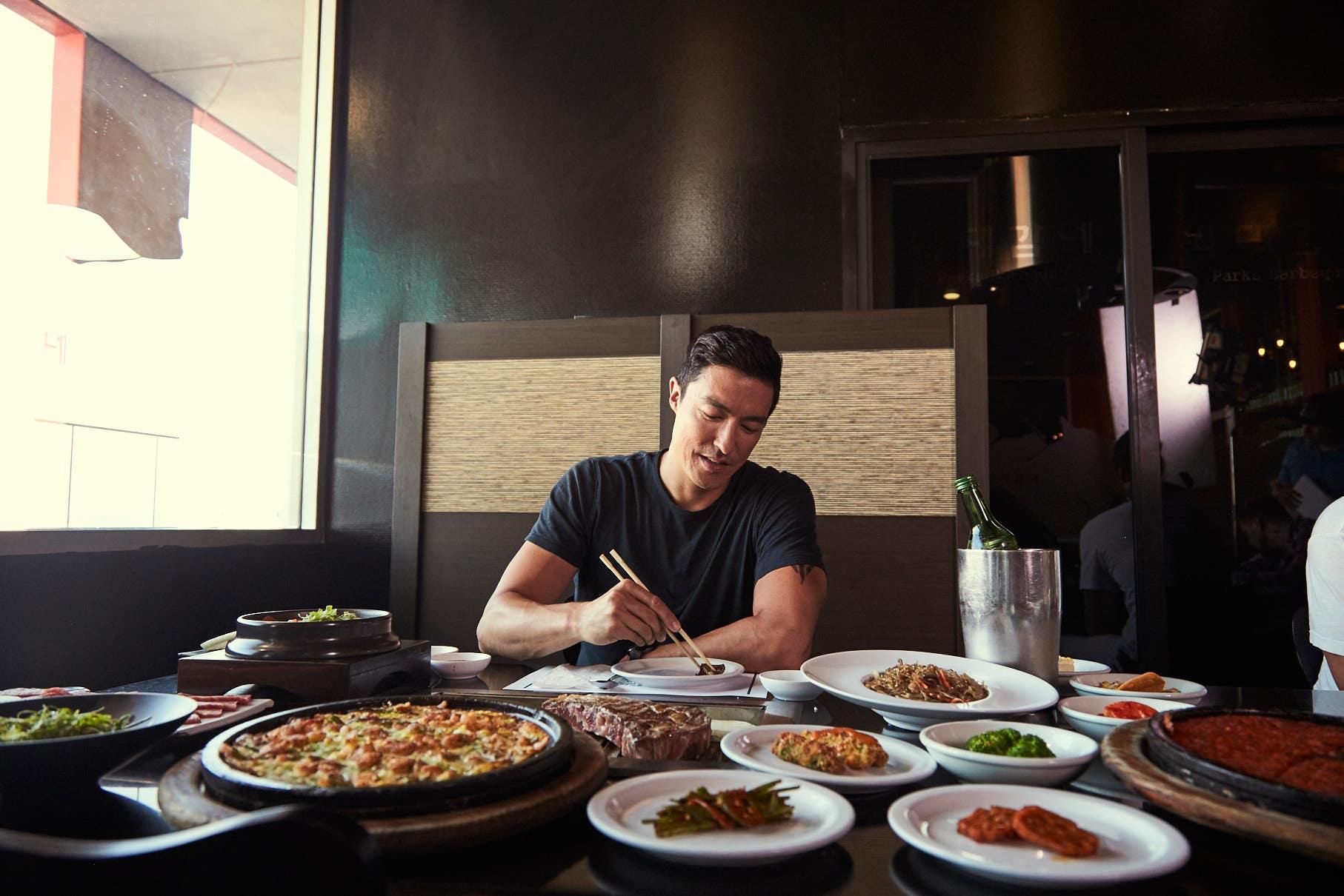 Daniel Henney at Park's BBQ in Koreatown