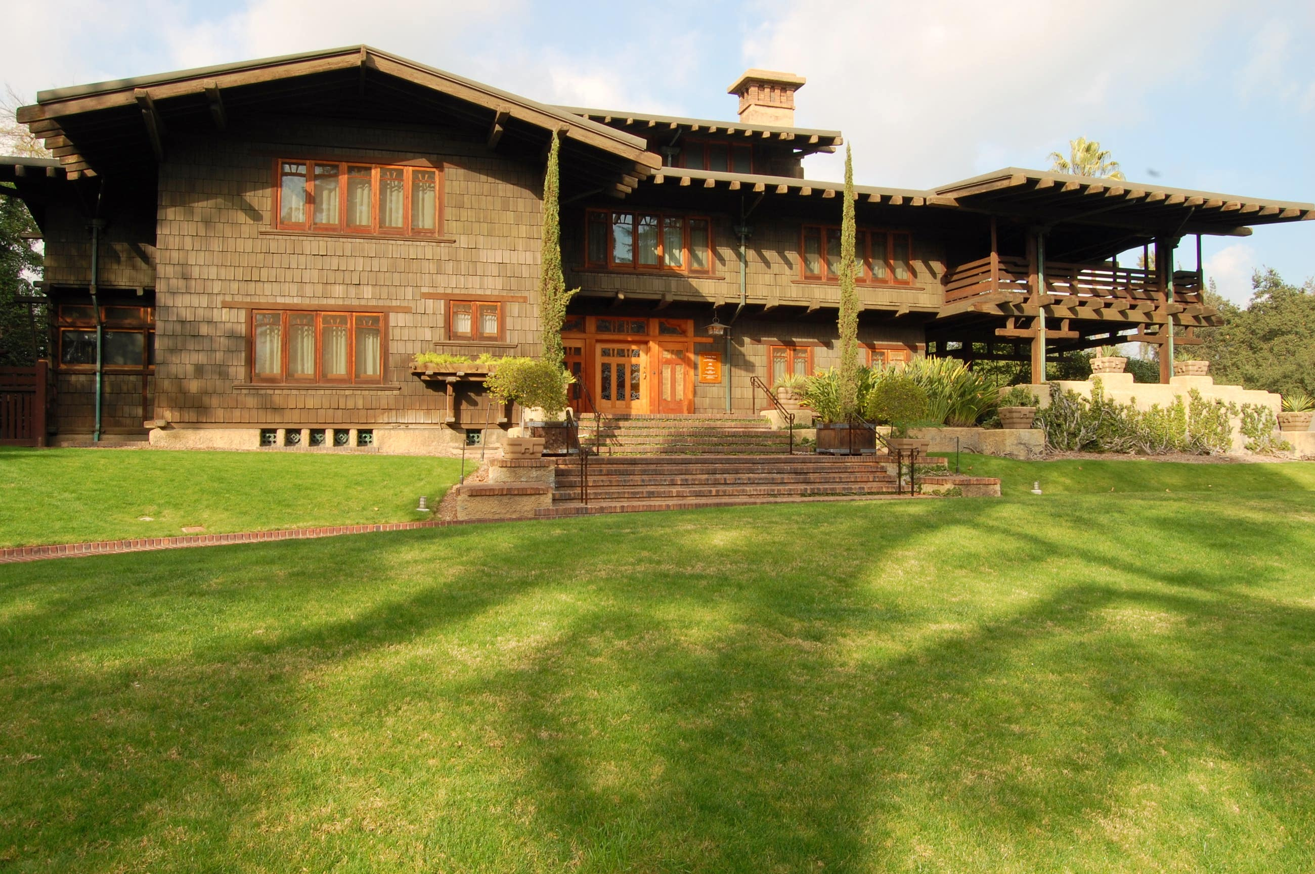 Exterior of the Gamble House in Pasadena
