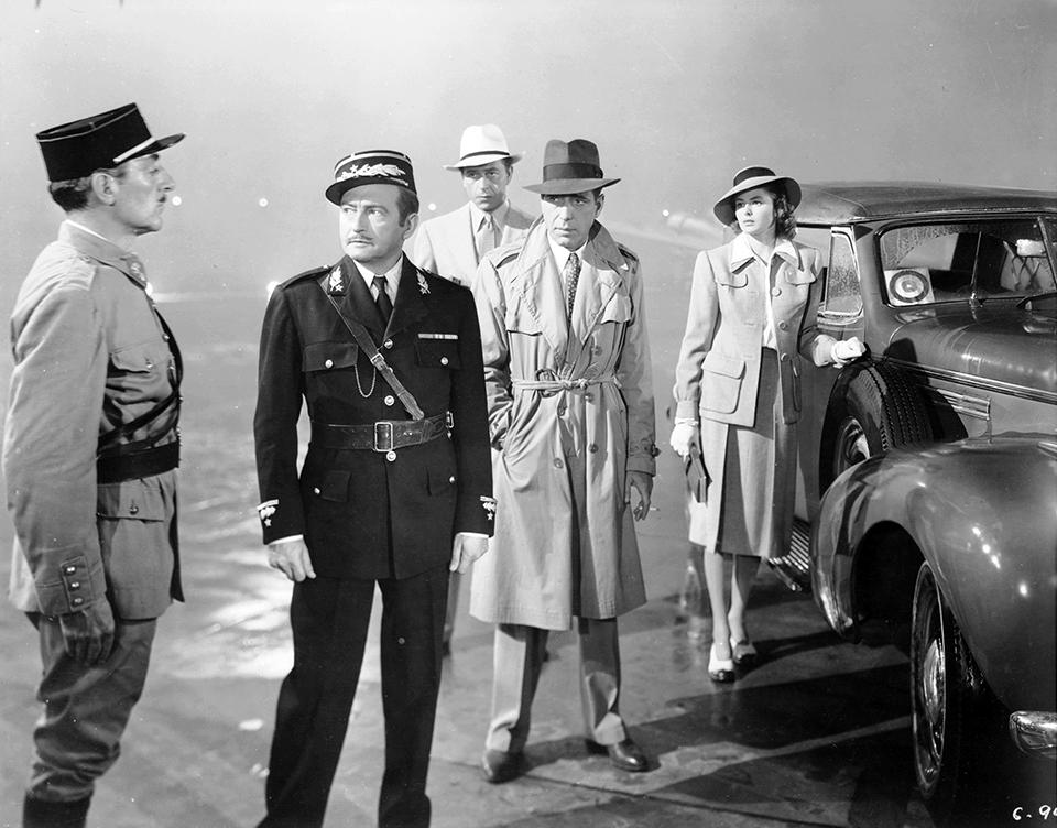"""Casablanca"" final scene at the airport"