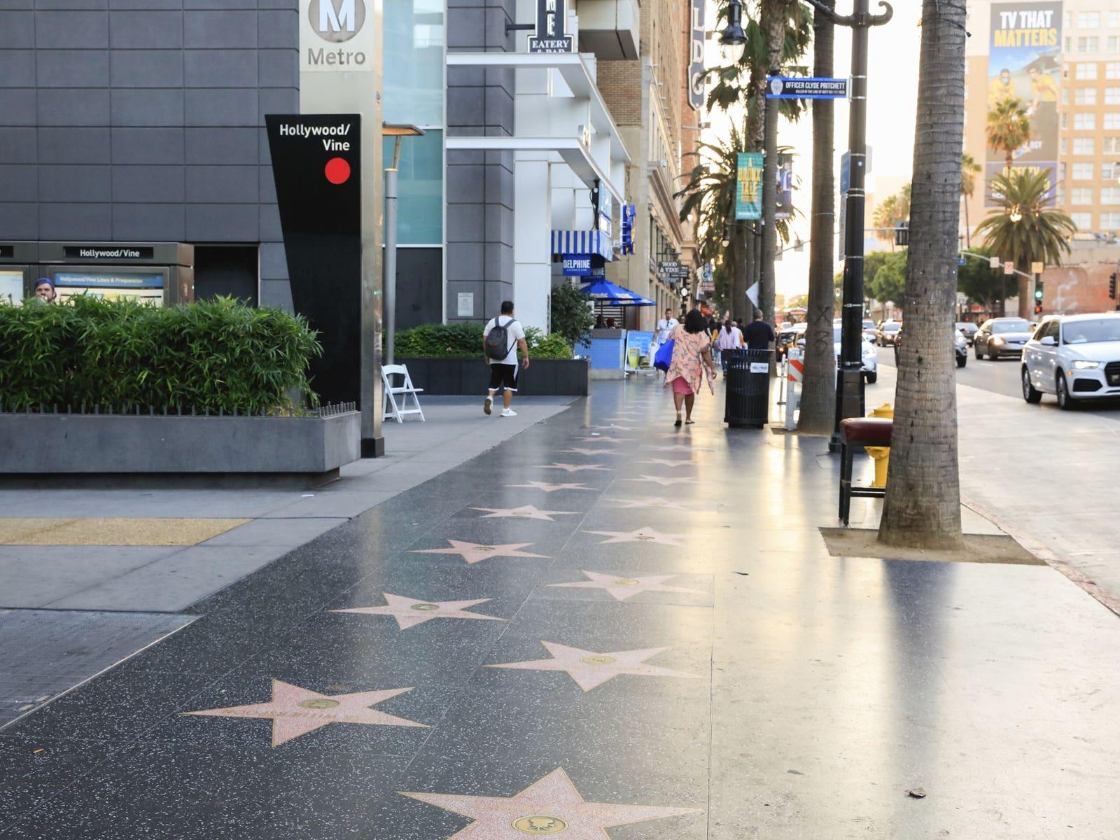 Hollywood Walk of Fame at Metro Hollywood/Vine Station