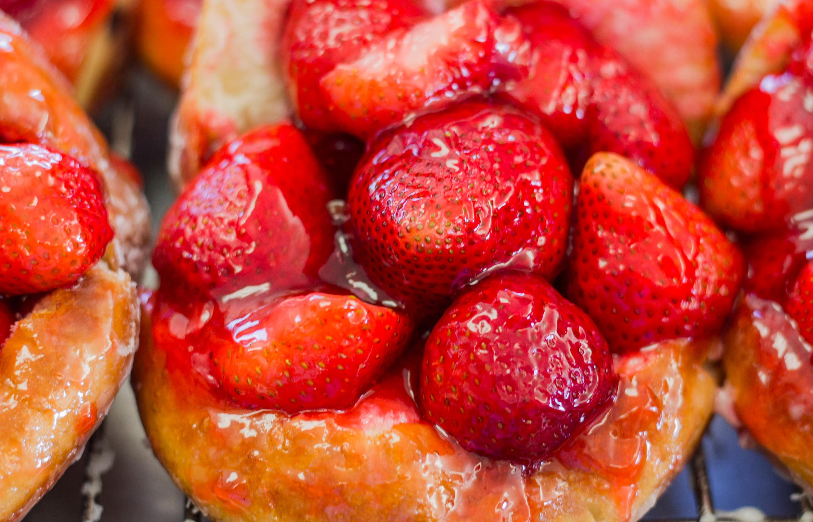 Strawberry Donuts at The Donut Man