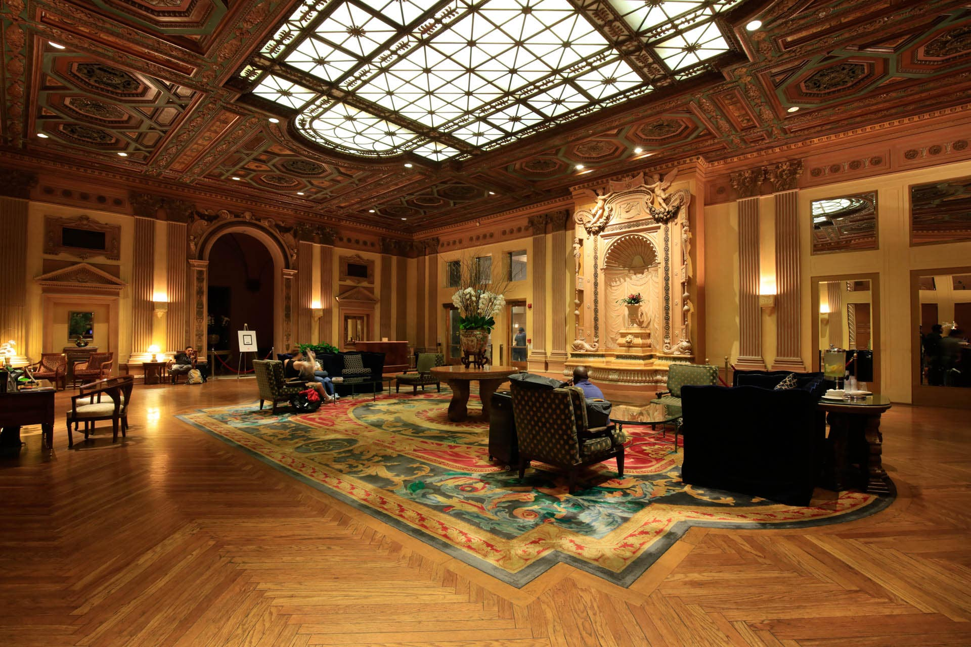 Lobby of the Millennium Biltmore Hotel in DTLA