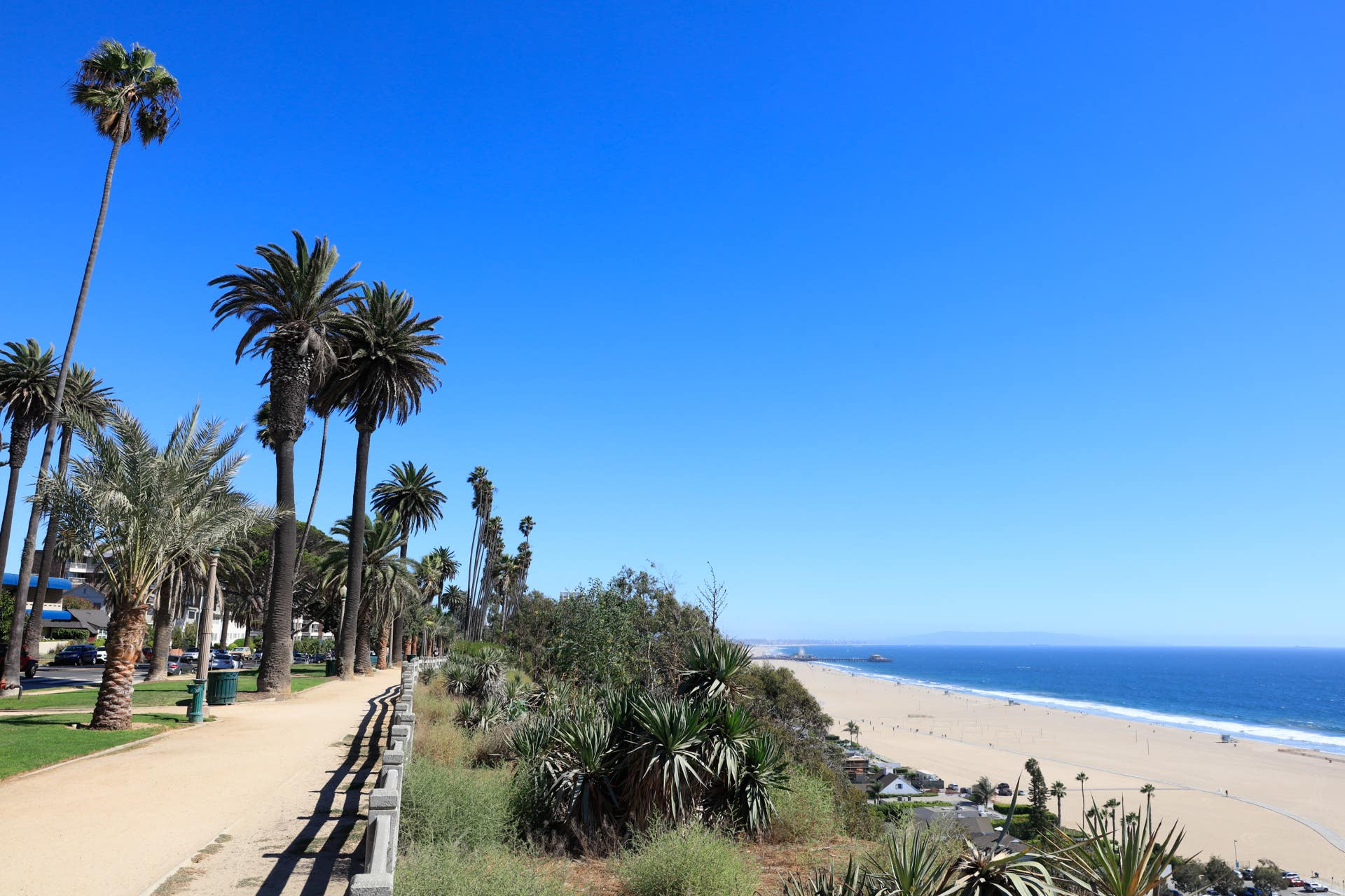 View of the Pacific Ocean at Palisades Park