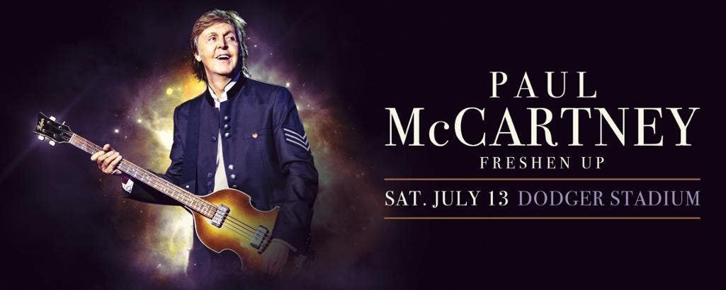 "Paul McCartney ""Freshen Up"" Tour at Dodger Stadium"