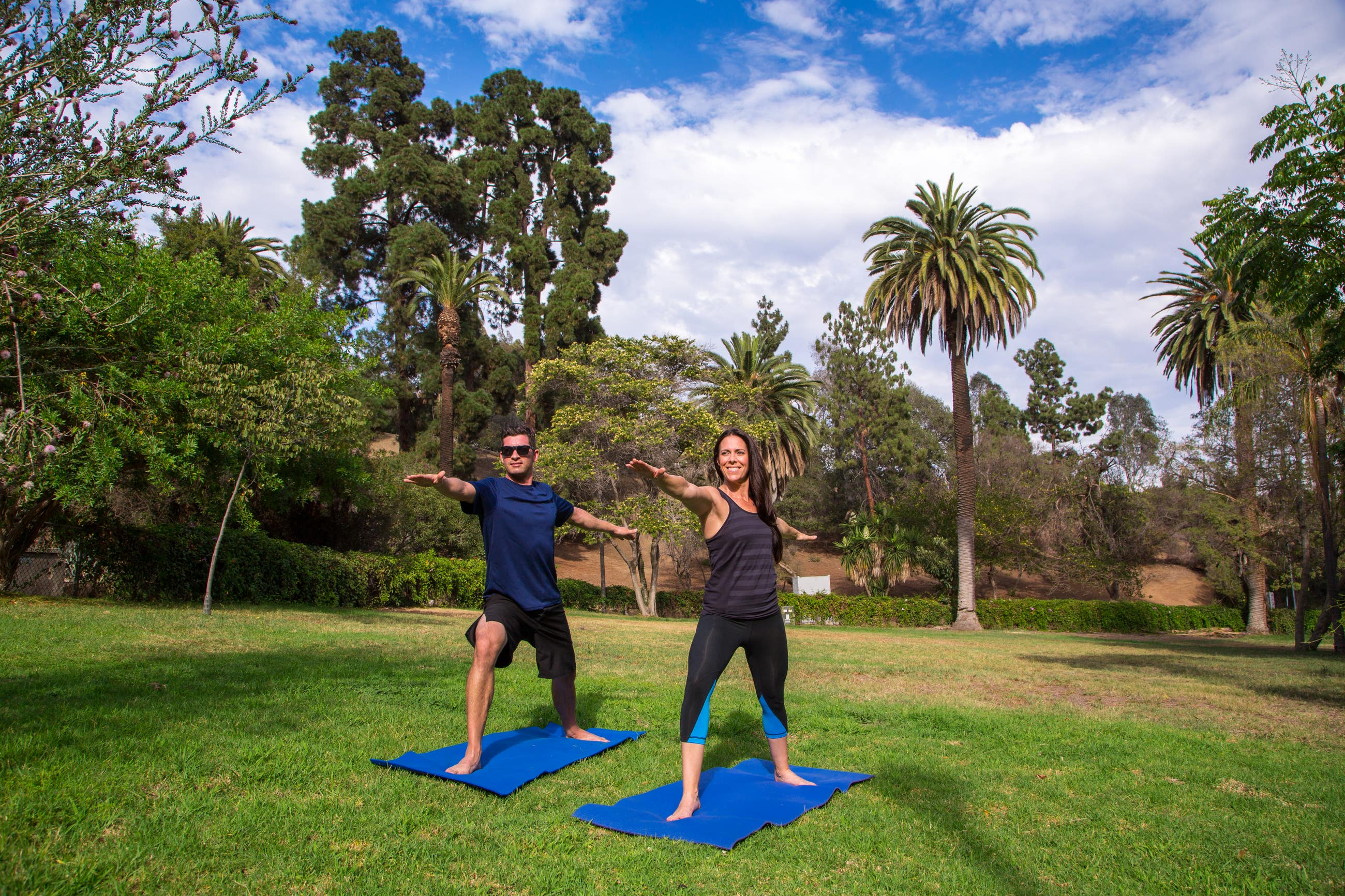 Yoga in Runyon Canyon