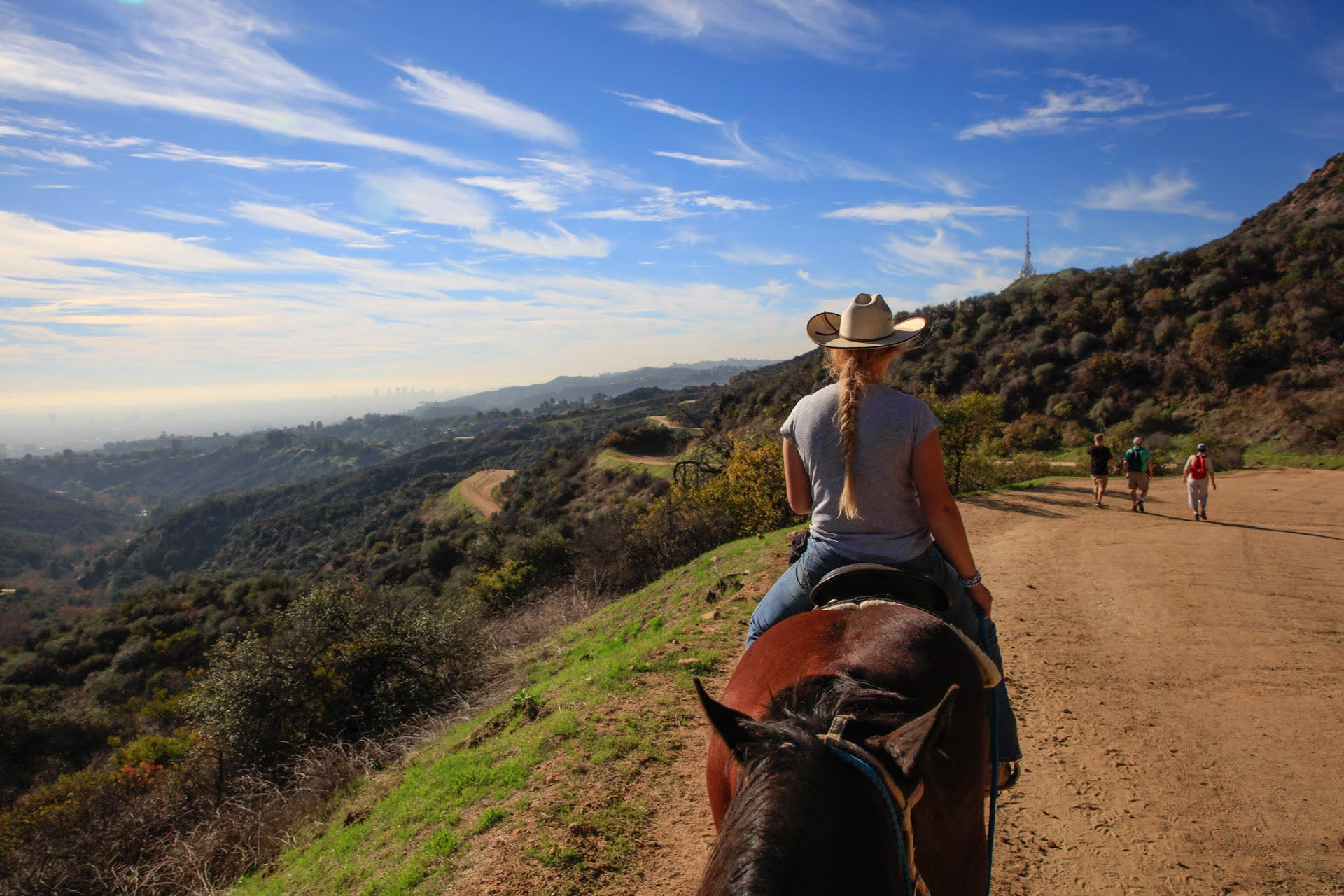 View from the saddle at Sunset Ranch Hollywood      Photo: Yuri Hasegawa