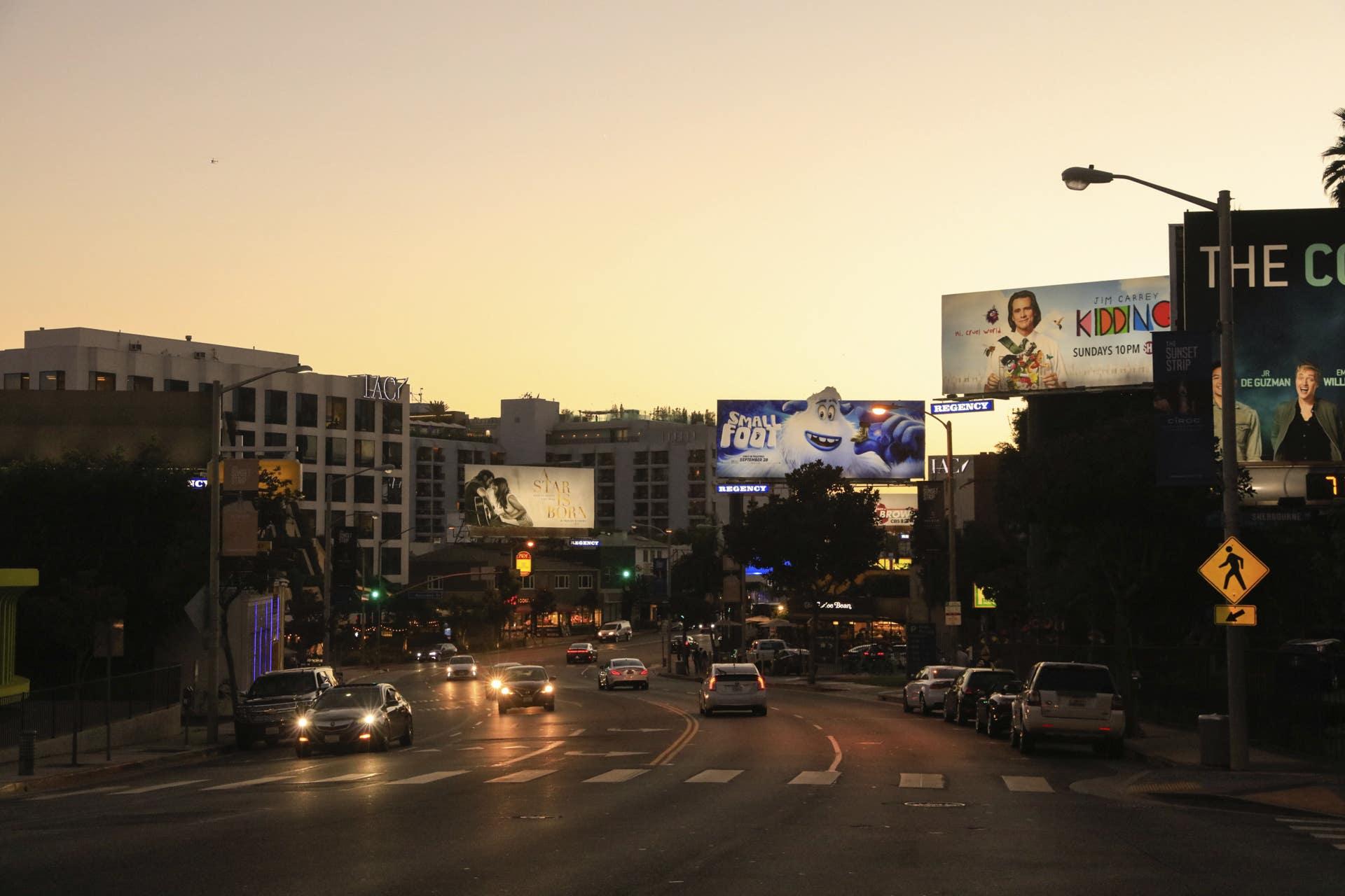 Sunset Strip at Dusk