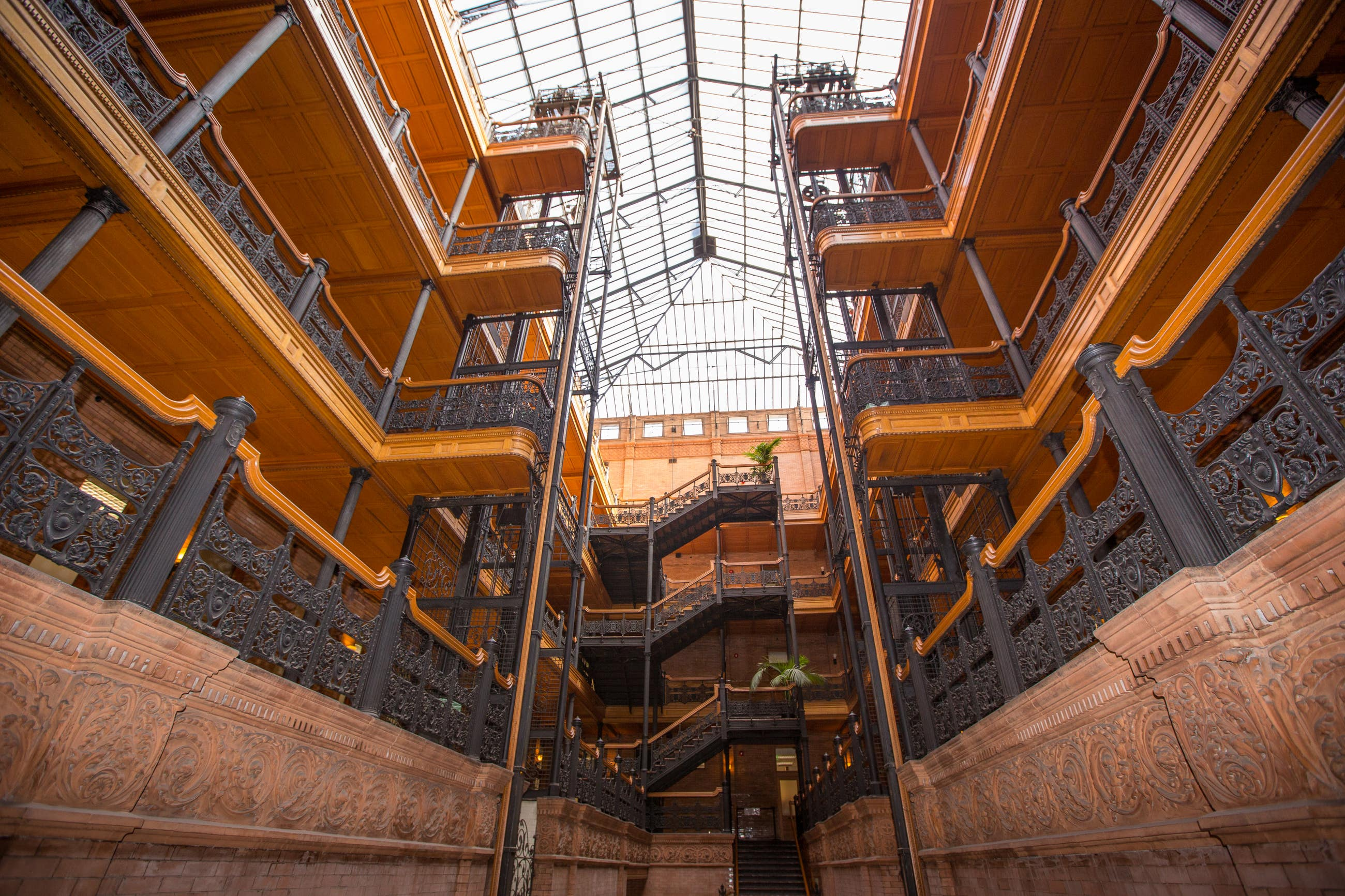 The Bradbury Building in Downtown LA
