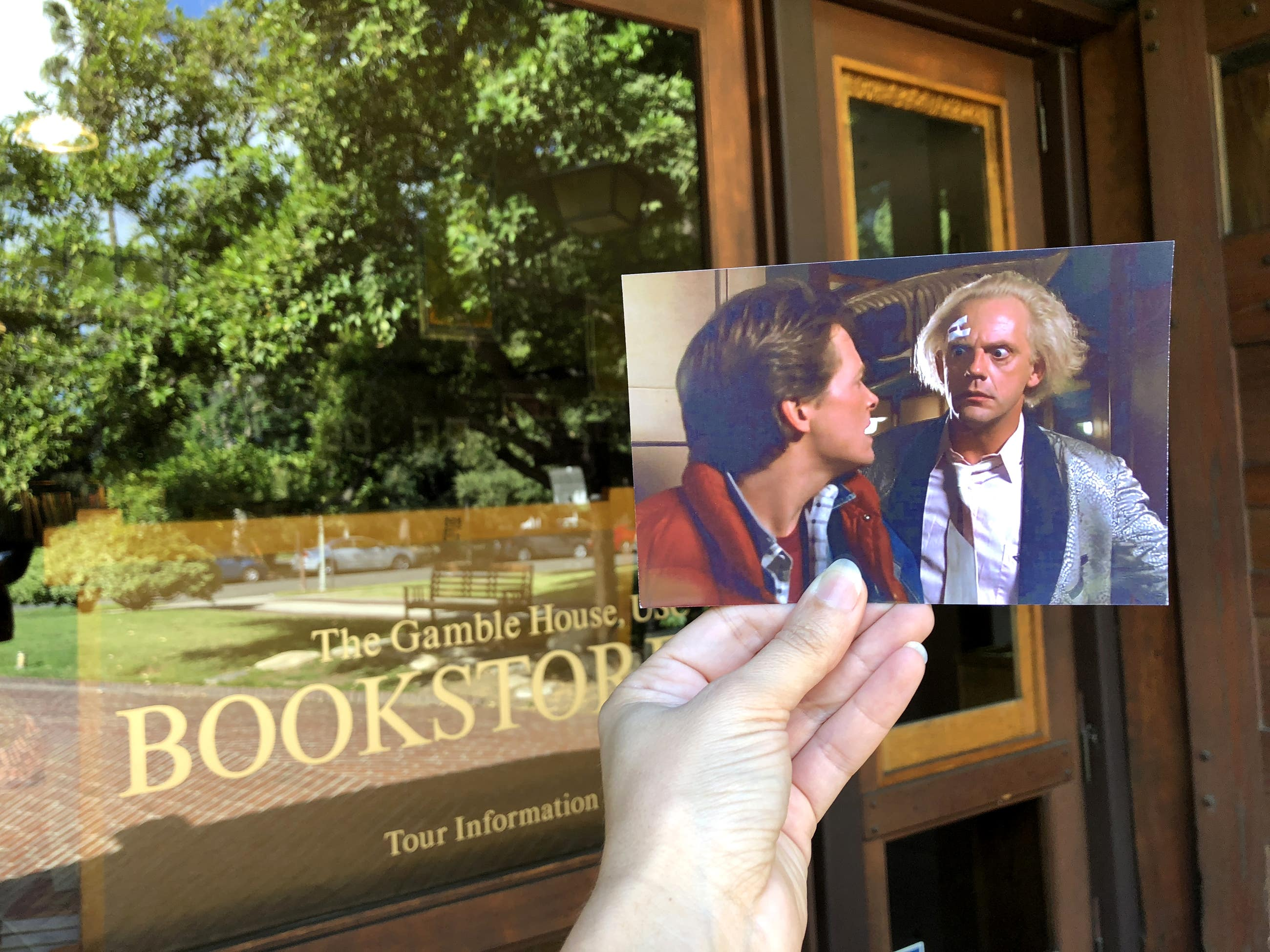 """Gamble House in """"Back to the Future"""""""