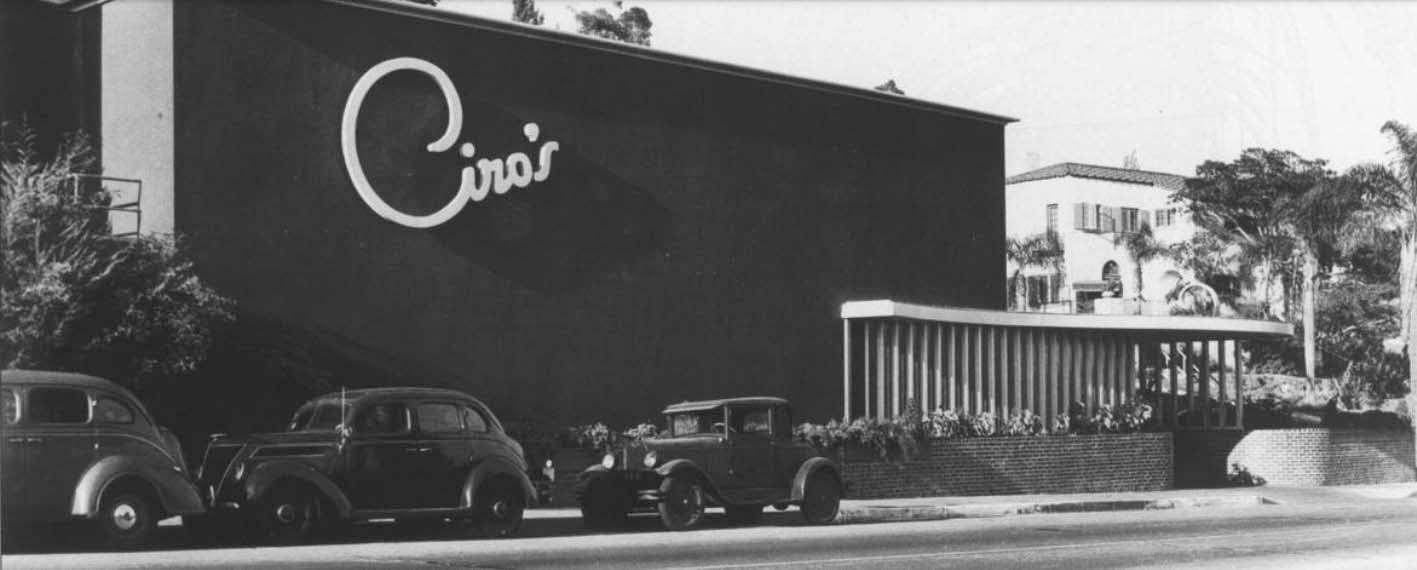 Ciro's on the Sunset Strip circa 1940
