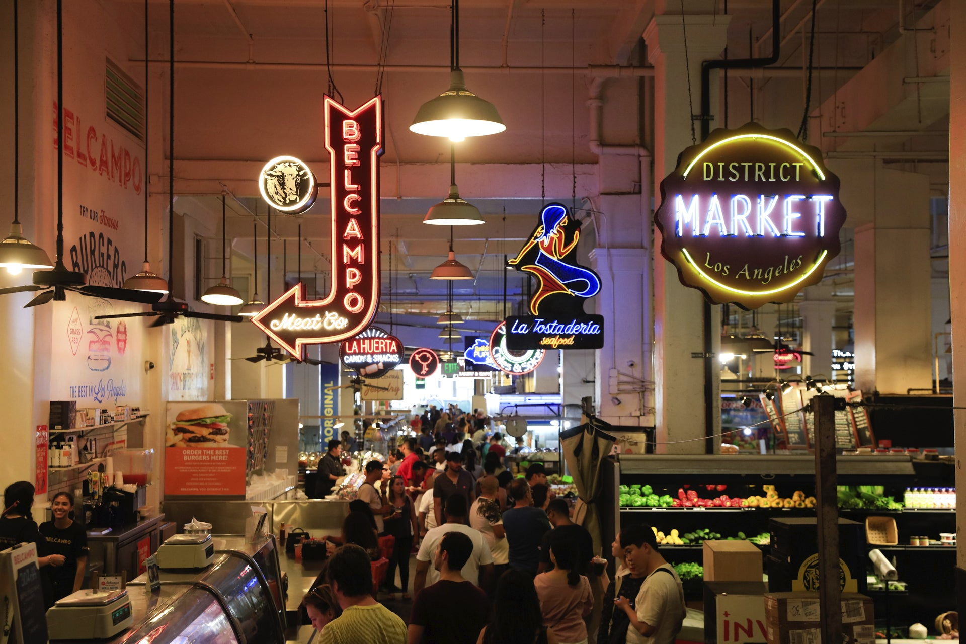 Grand Central Market in Downtown L.A.