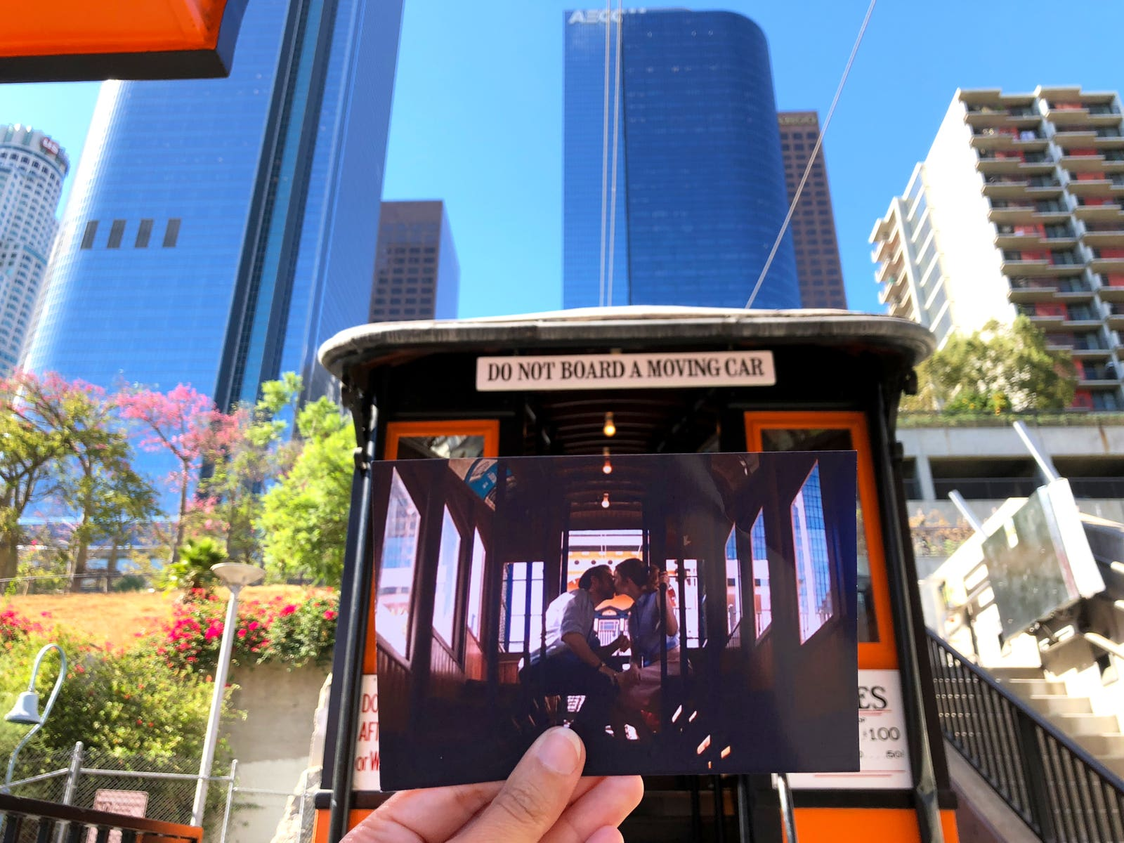 "Scene from ""La La Land"" at Angels Flight in Downtown LA"