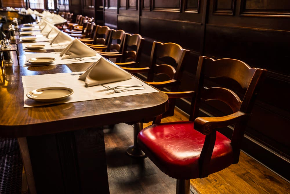 Counter seats in the Old Room at Musso & Frank Grill