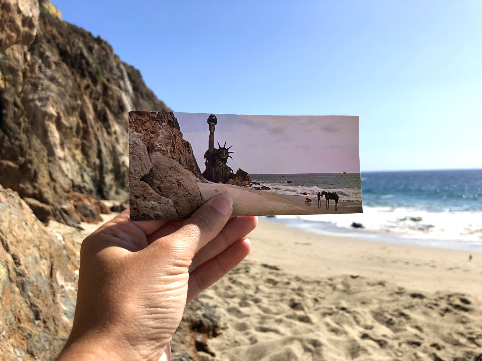 """Point Dume in the final scene of """"Planet of the Apes"""""""