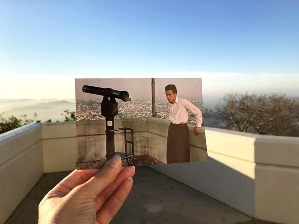 James Dean at the Griffith Observatory in Rebel Without a Cause      Photo: @filmtourismus
