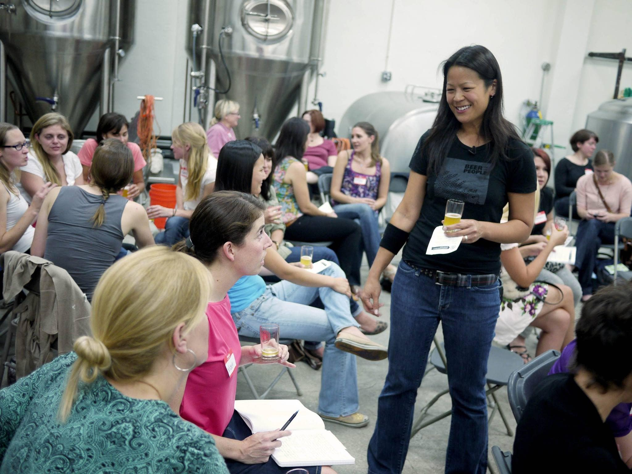 Ting Su hosts the Women's Beer Forum at Eagle Rock Brewery
