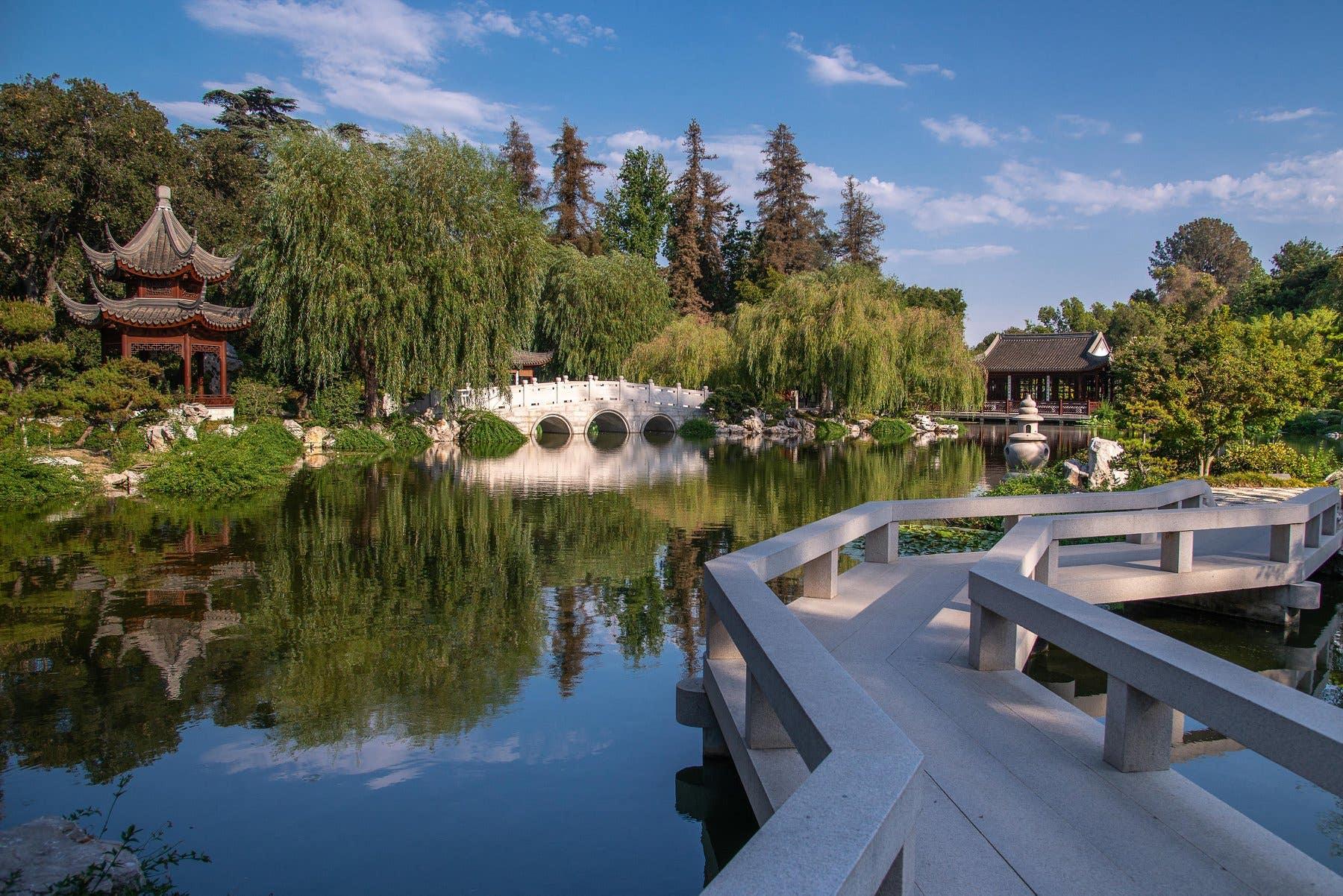 Huntington Library Chinese Garden Pavilion Bridge