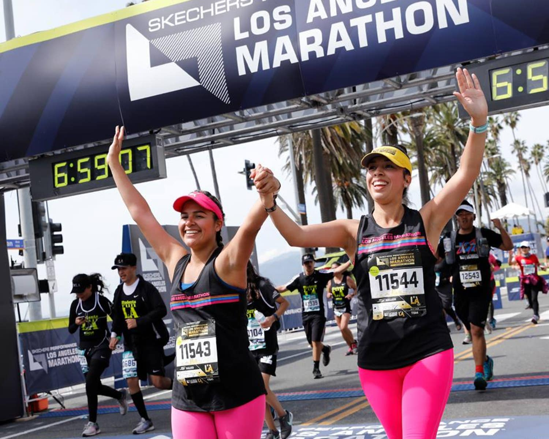 LA Marathon Finish Line