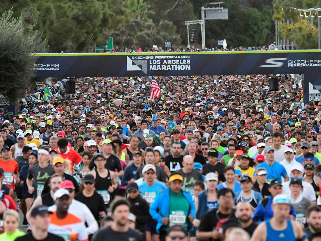 LA Marathon Start Line Full Field
