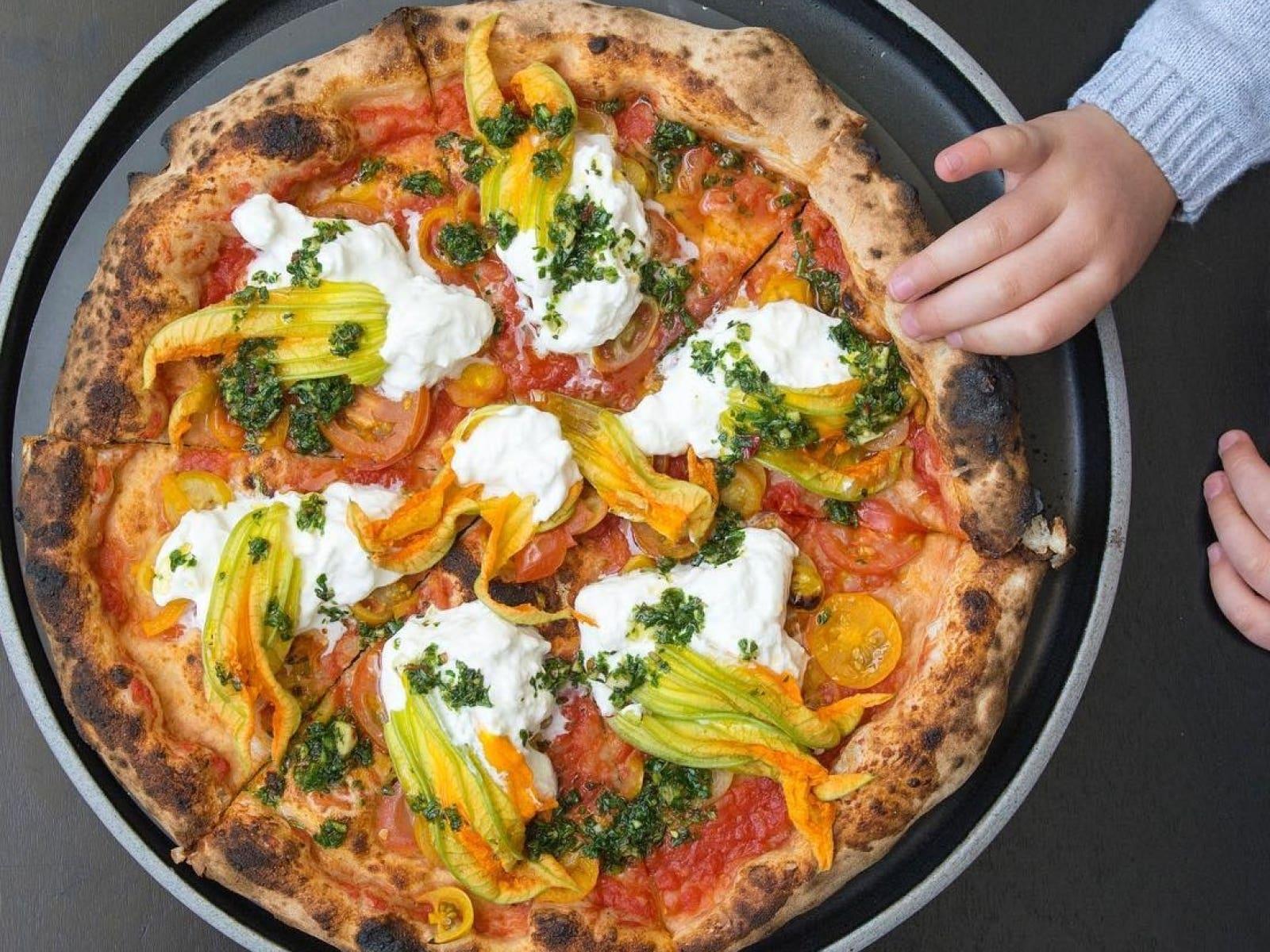 Corbarina pizza en Pizzana