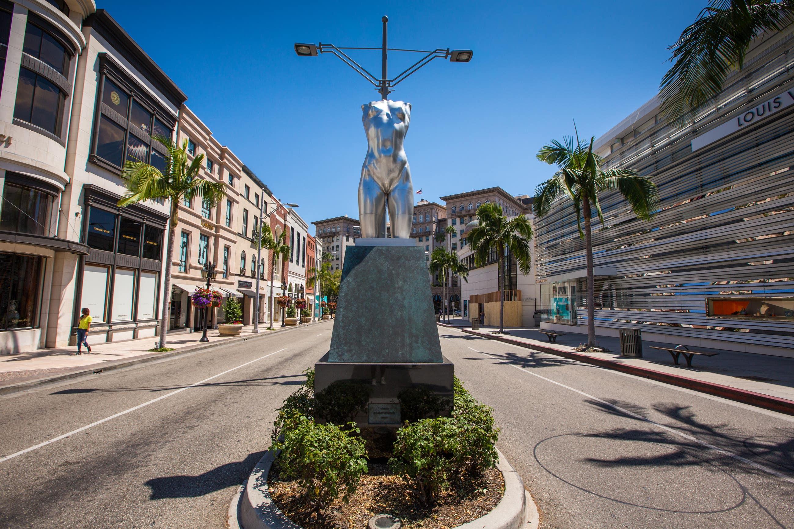 "Robert Graham ""Torso"" on Rodeo Drive in Beverly Hills"