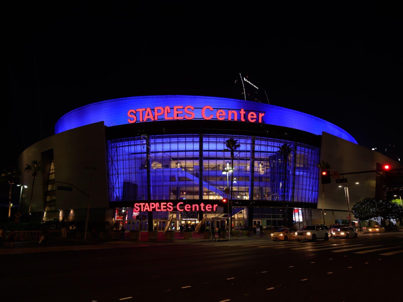 STAPLES Center Night