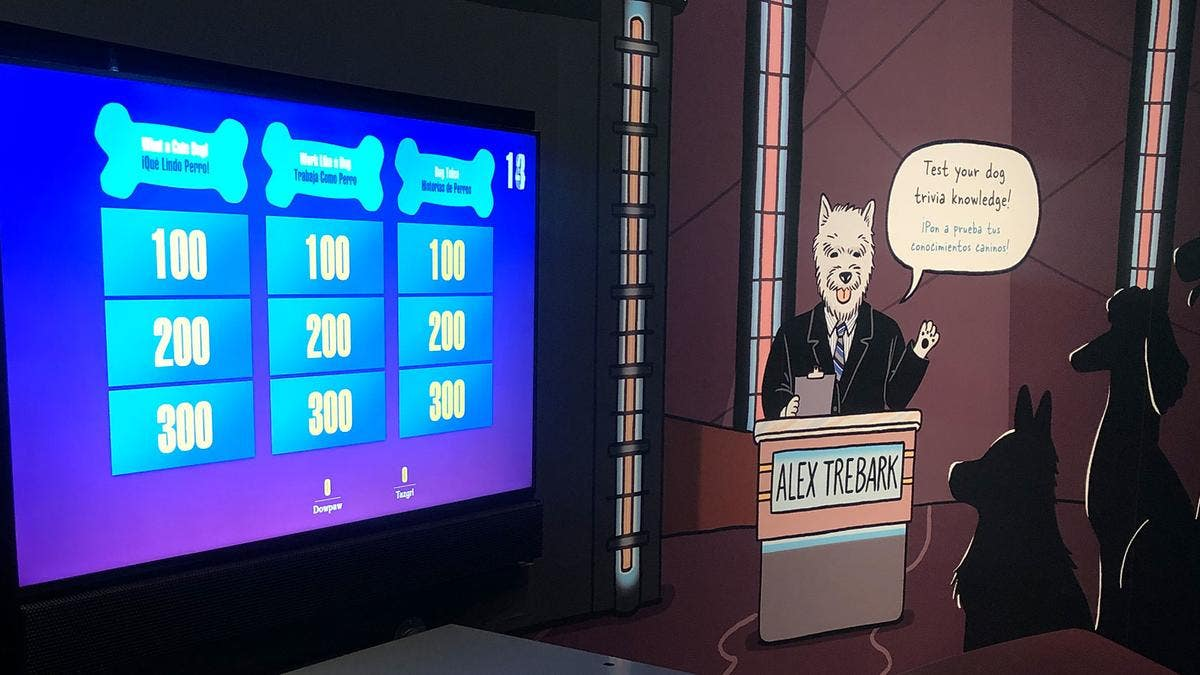 """""""Jeopawdy"""" from Dogs! A Science Tail at the California Science Center 
