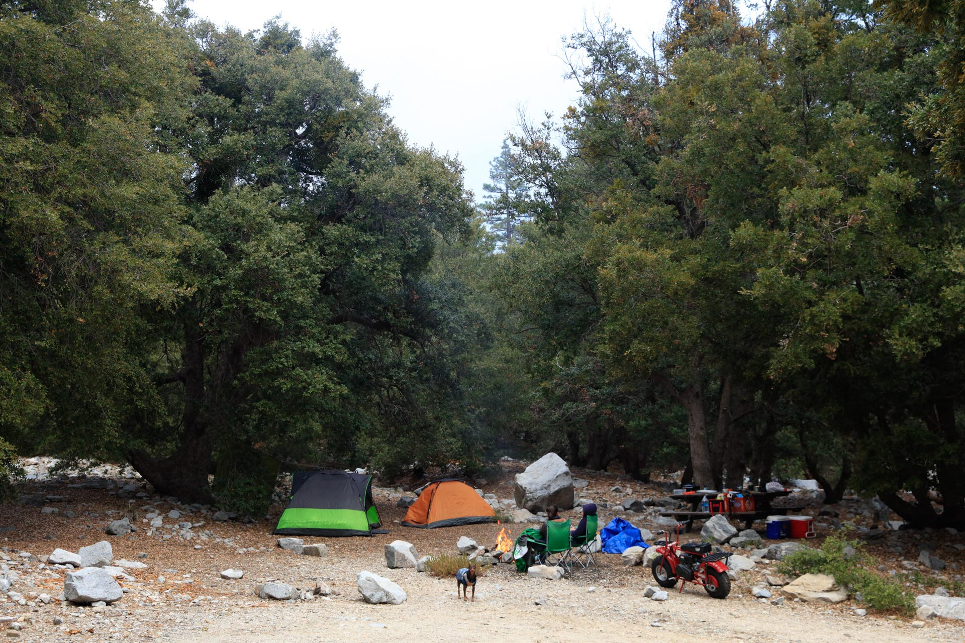 Crystal Lake Recreation Area Campground in the Angeles National Forest