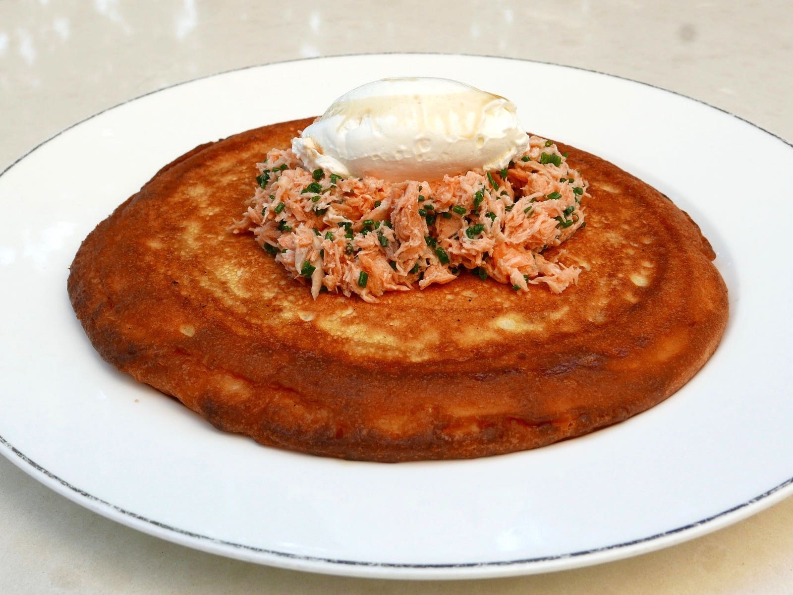Kippered Salmon Pancake at Freedman's