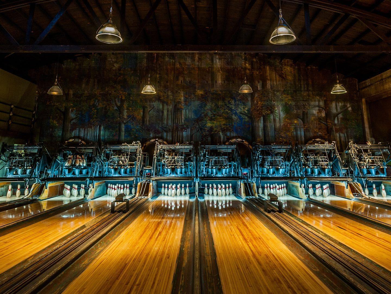 Highland Park Bowl bowling lanes and pins