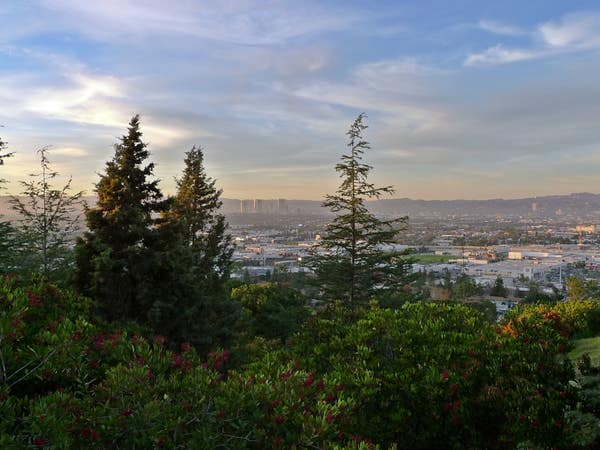 Kenneth Hahn State Recreation Area at sunset