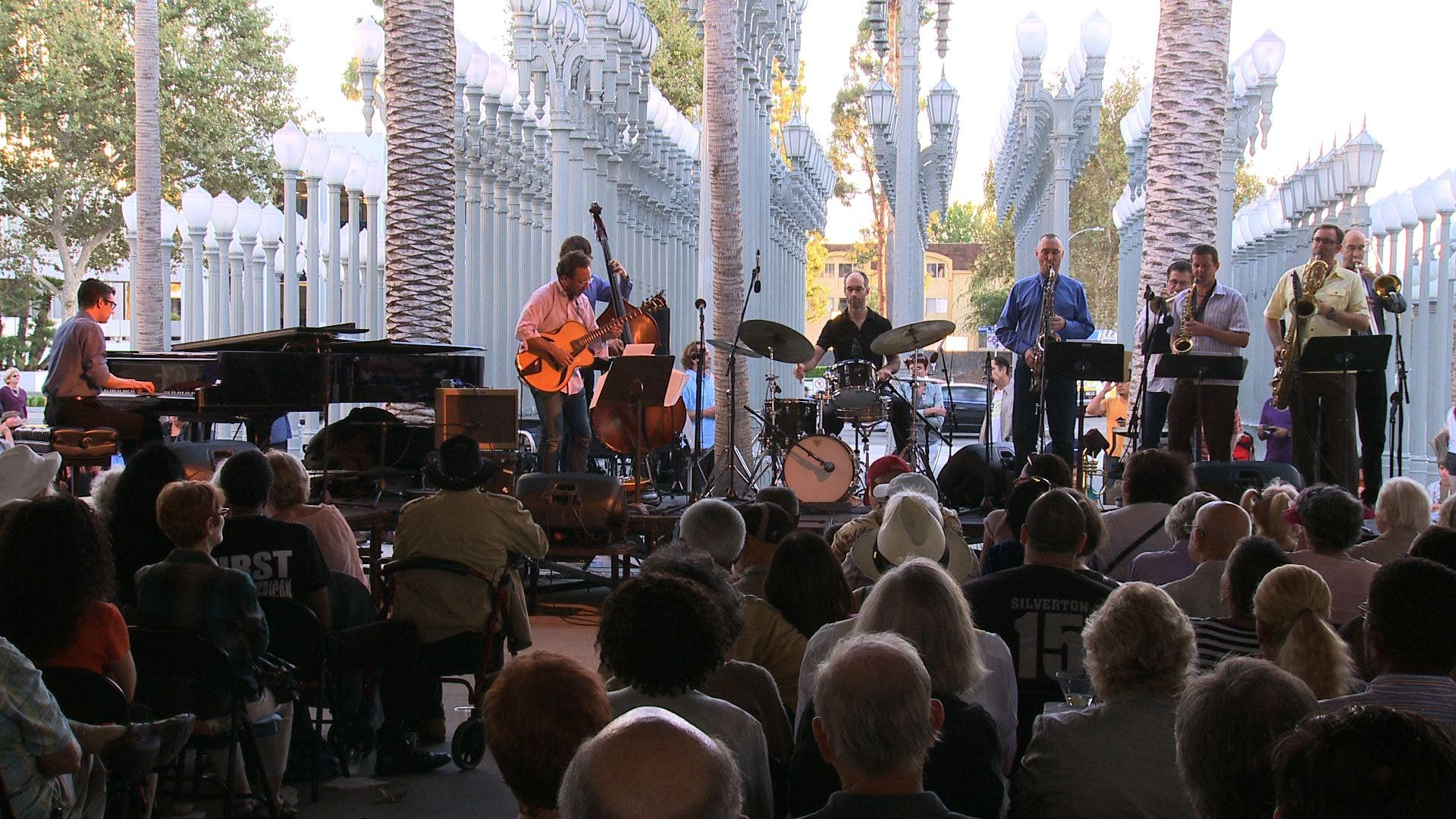 Anthony Wilson Nonet performs at Jazz at LACMA