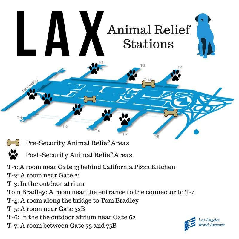 LAX Animal Relief Stations