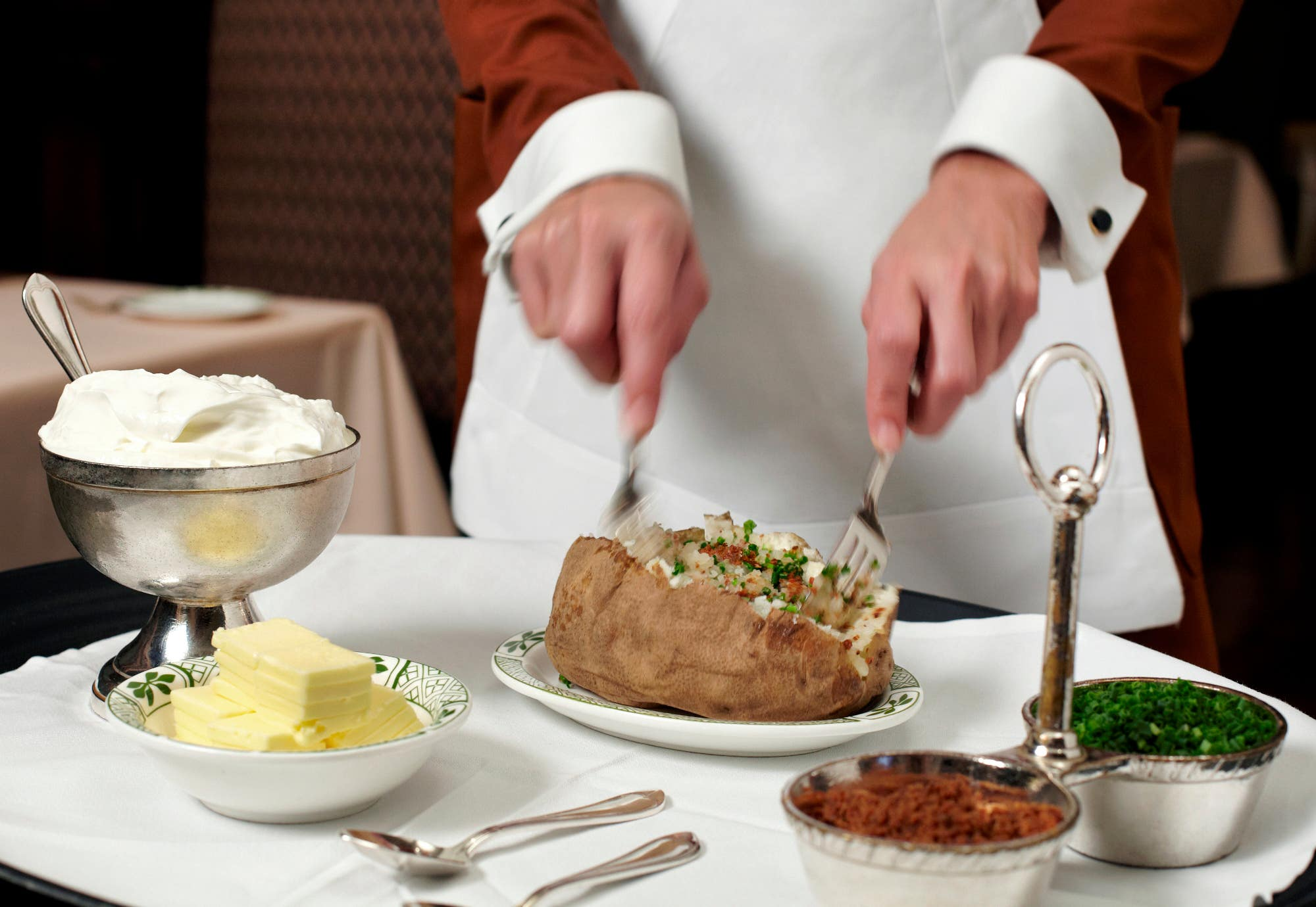 Idaho Baked Potato at Lawry's The Prime Rib in Beverly Hills