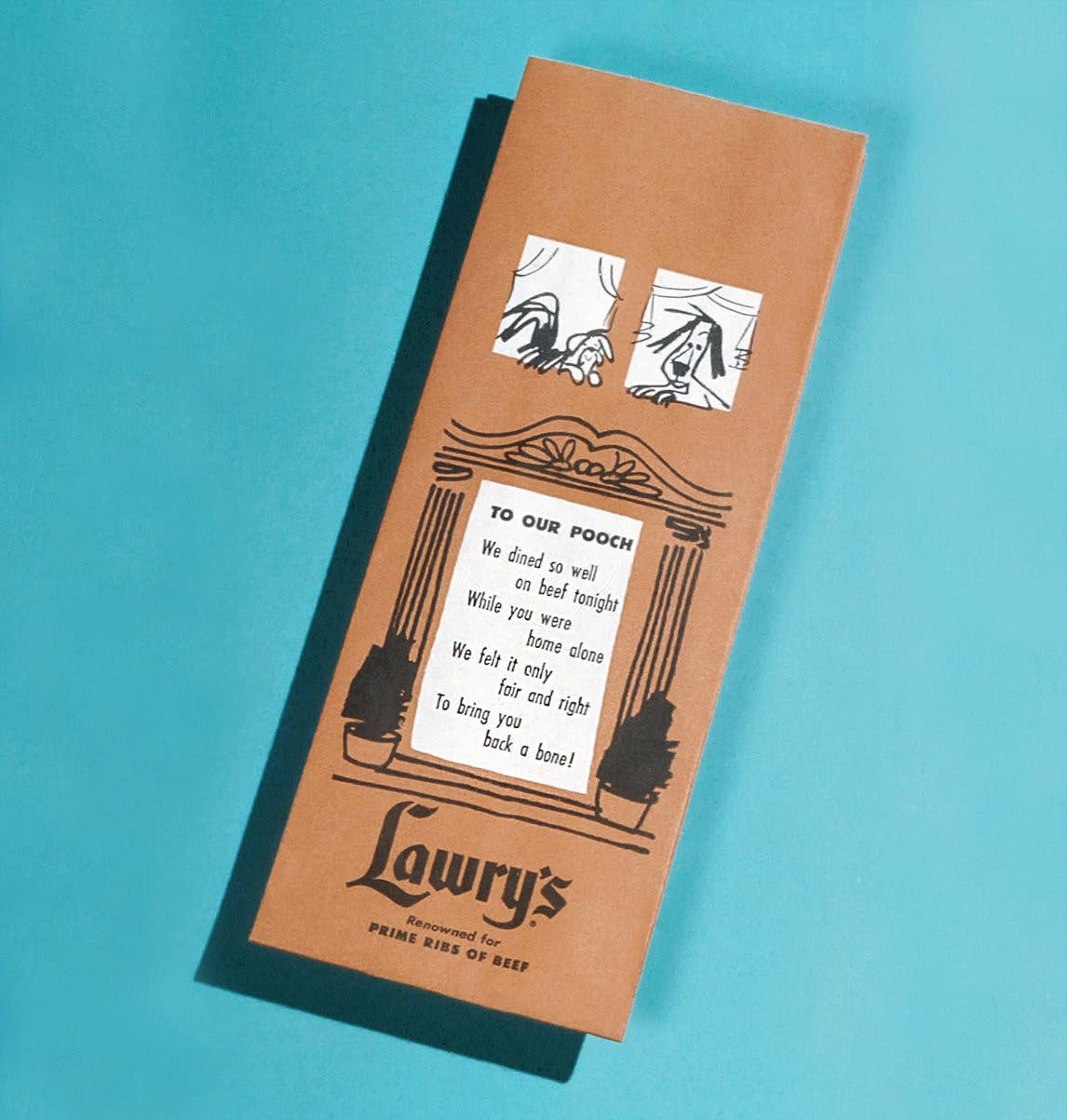 Lawry's The Prime Rib Beverly Hills 1960s Doggie Bag