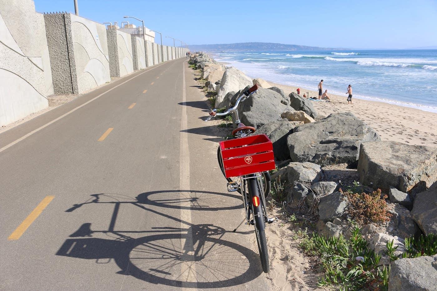 The Marvin Braude Bike Trail near Dockweiler State Beach