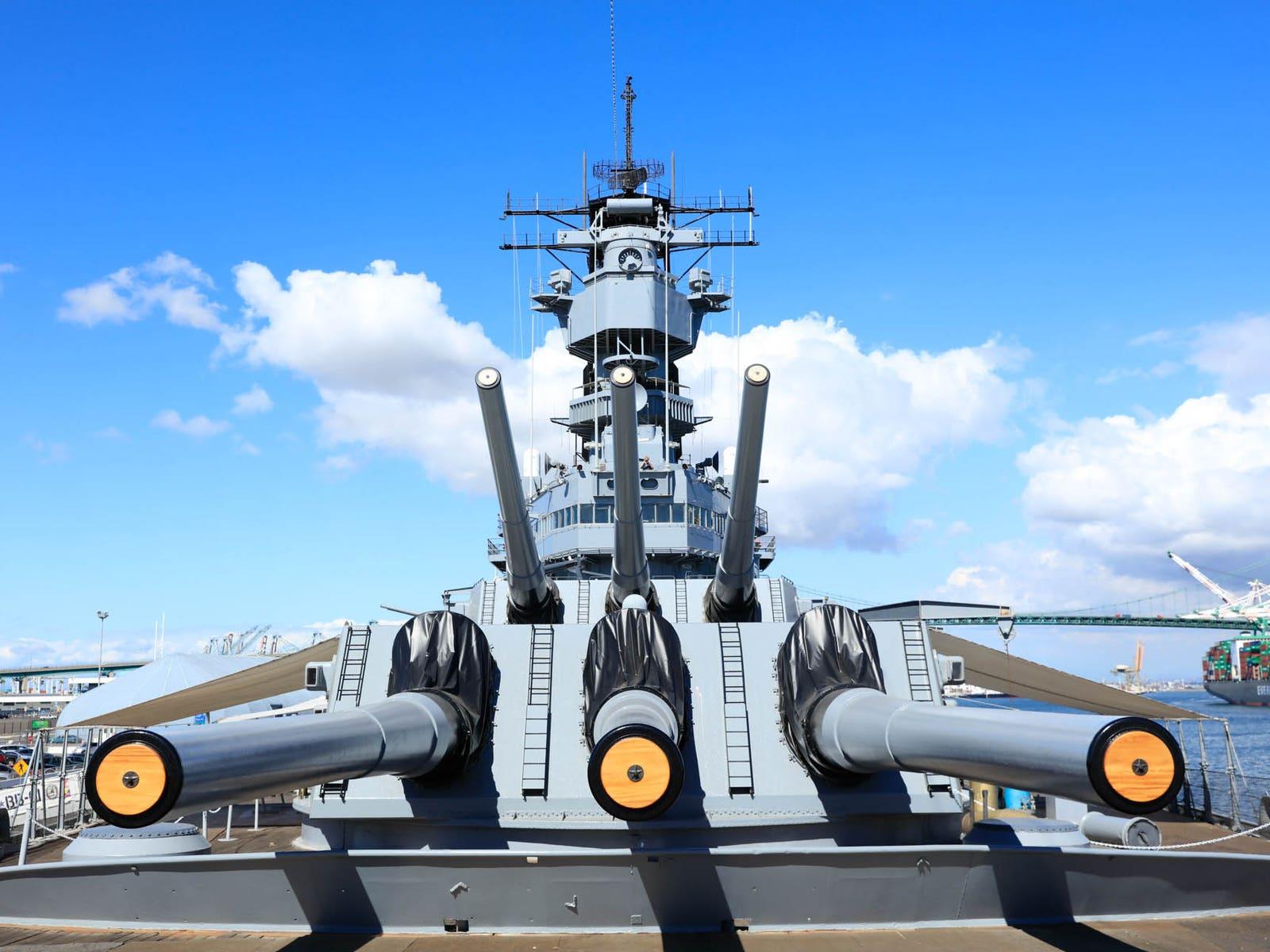 Battleship IOWA at the Port of Los Angeles in San Pedro