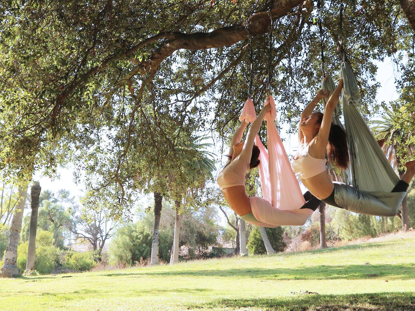D&A Flying Yoga outdoors