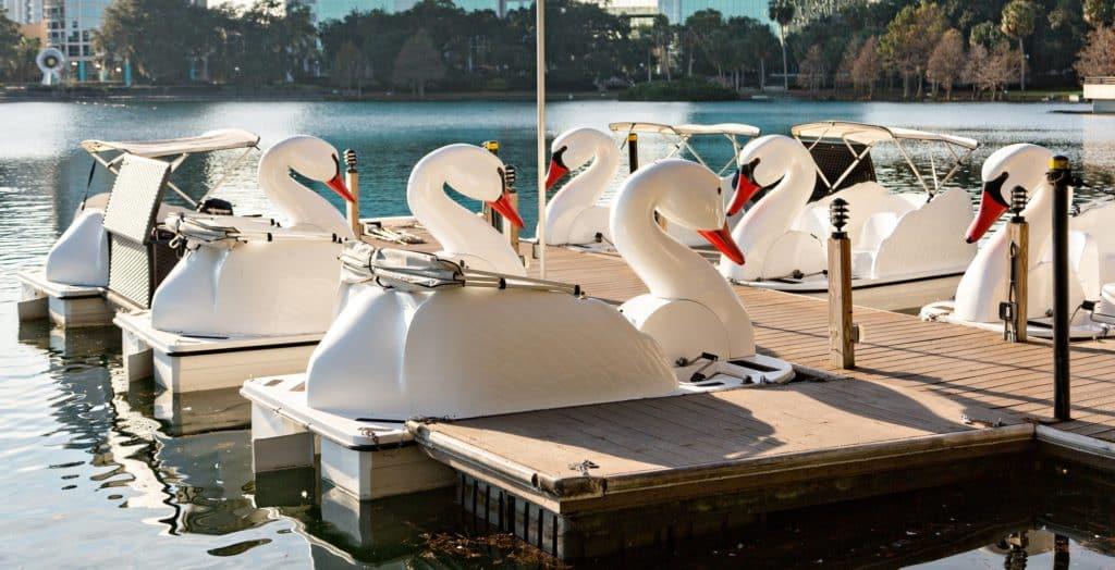 Echo Park Lake Swan Boats