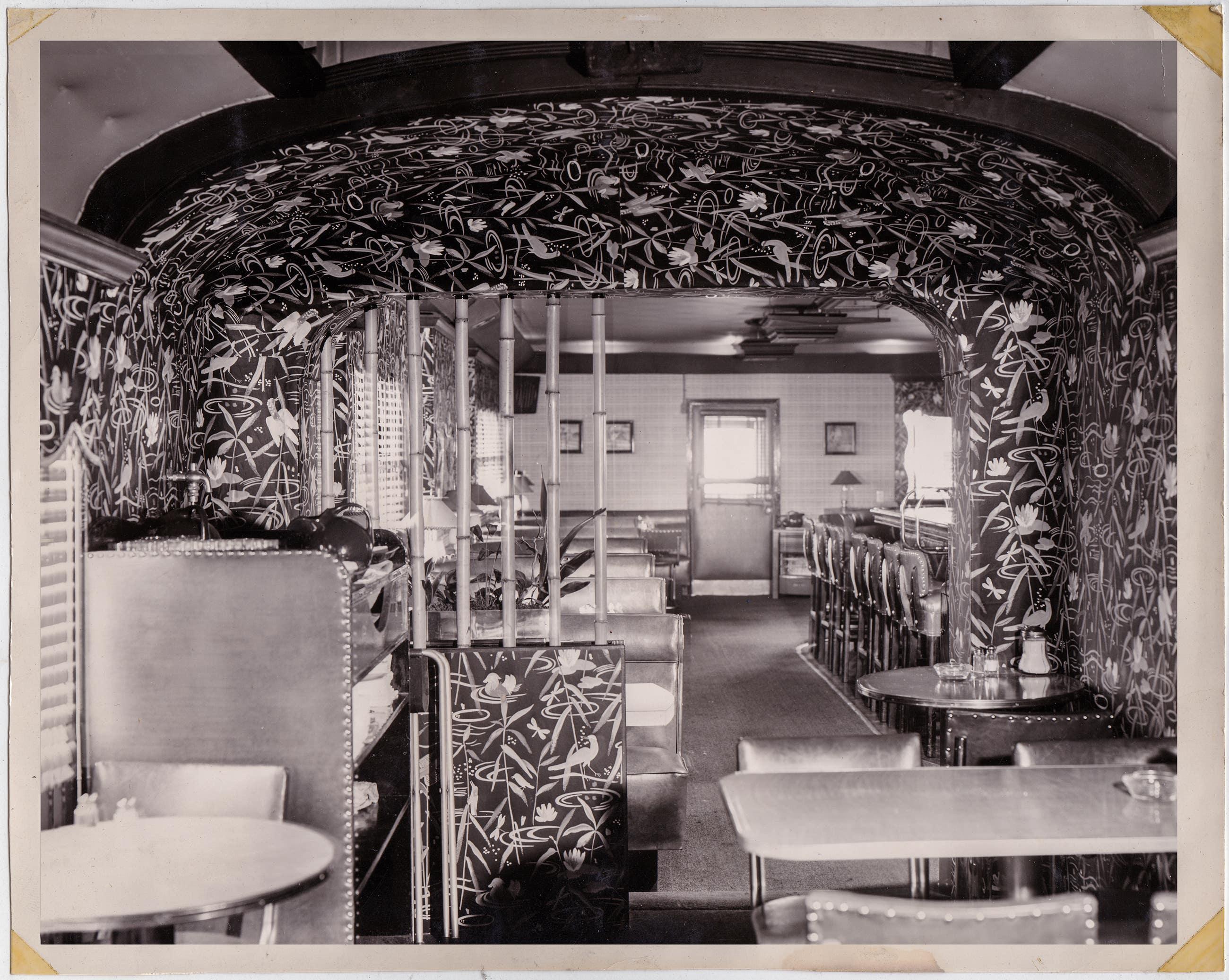 Vintage photo of the Formosa Cafe interior