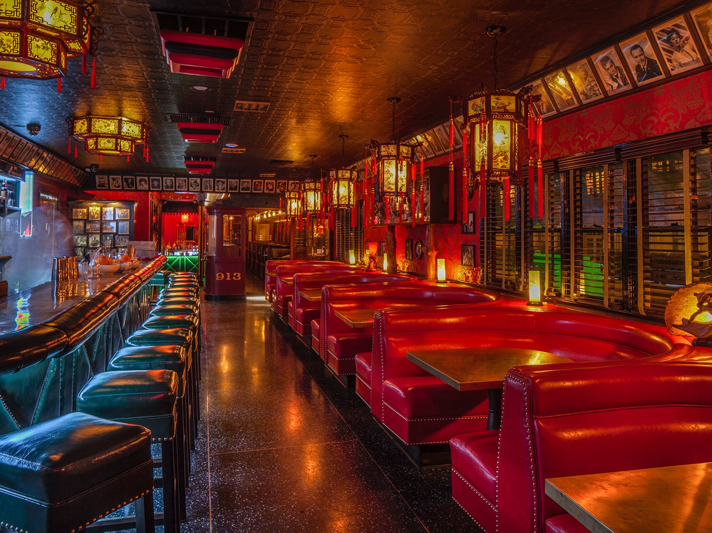 Main Room of the Formosa Cafe at night