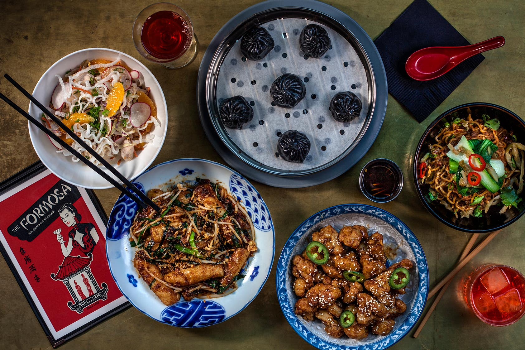 Formosa Cafe dishes created by David Kuo of Little Fatty